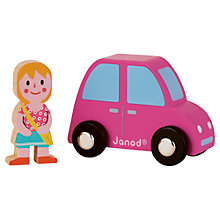 Buy Janod Car and Girl Set Online at johnlewis.com