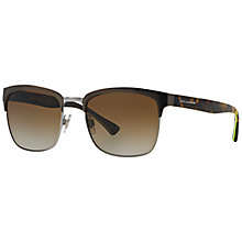 Buy Dolce & Gabbana DG2148 Square Sunglasses, Tortoise Online at johnlewis.com
