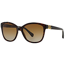Buy Dolce & Gabbana DG 4258 Polarised Sunglasses, Tortoise Online at johnlewis.com