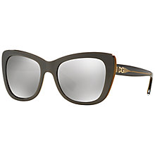 Buy Dolce & Gabbana DG4260 Cat's Eye Framed Sunglasses Online at johnlewis.com