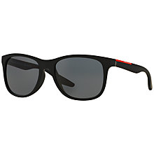 Buy Prada Linea Rossa PS03OS Polarised Sunglasses, Black Online at johnlewis.com
