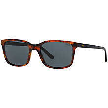 Buy Polo Ralph Lauren PH4103 Square Framed Sunglasses, Tortoise Online at johnlewis.com