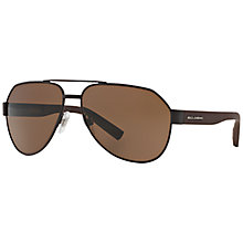 Buy Dolce & Gabbana Rubber Skin Sunglasses, Black Online at johnlewis.com