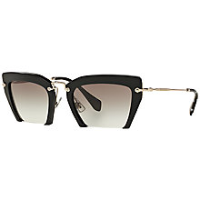 Buy Miu Miu MU10QS Rasoir Angular Sunglasses Online at johnlewis.com