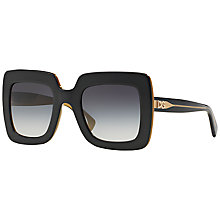 Buy Dolce & Gabbana DG4263 Square Framed Sunglasses, Black Online at johnlewis.com