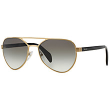 Buy Prada PR55RS Aviator Framed Sunglasses, Grey Online at johnlewis.com