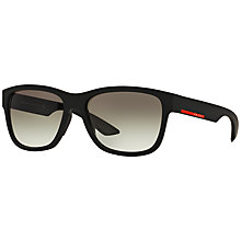 Buy Prada Linea Rossa PS03QS Rectangular Framed Sunglasses Online at johnlewis.com