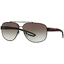 Buy Prada Linea Rossa PS58QS DG00A7 Aviator Sunglasses Online at johnlewis.com