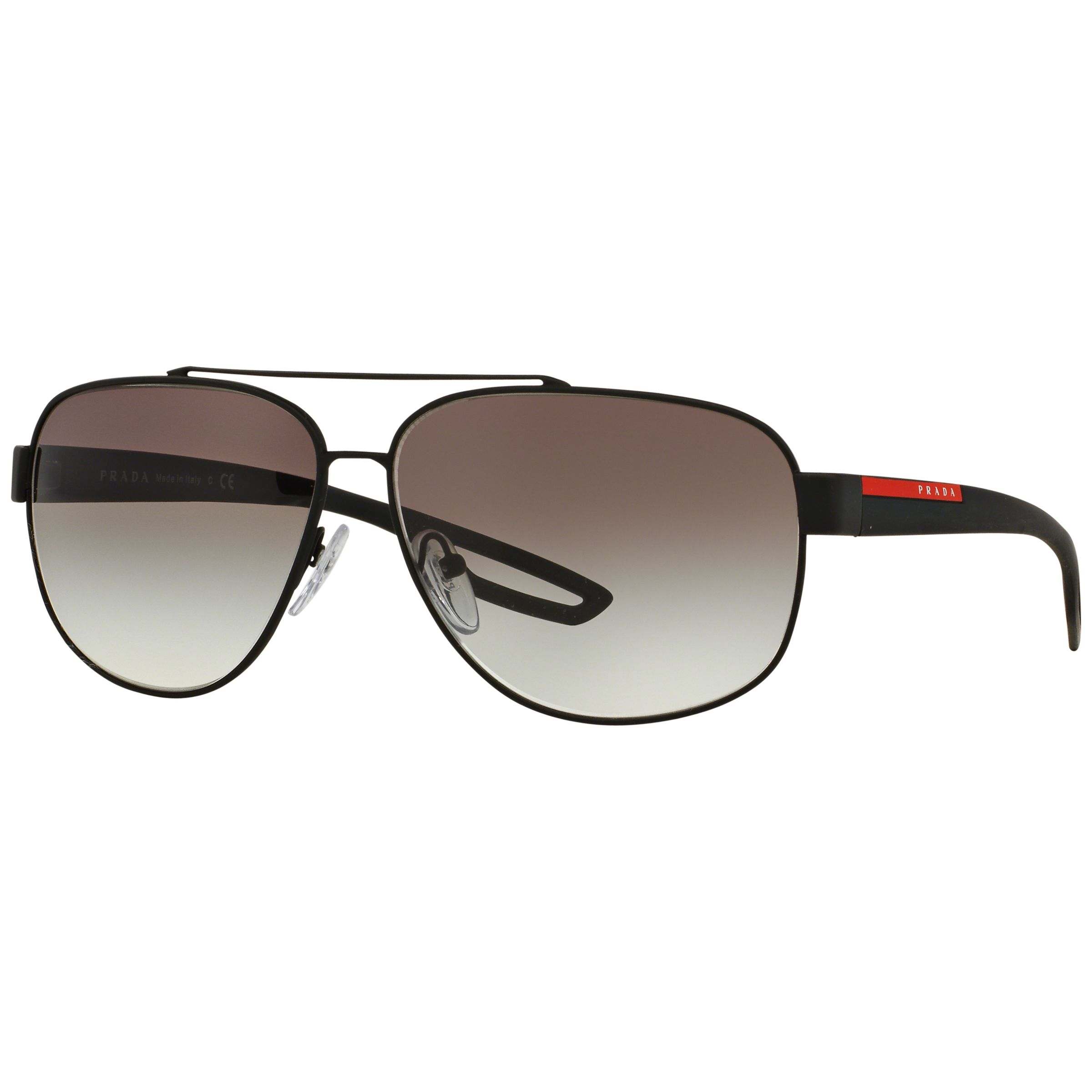 Prada Linea Rossa Prada Linea Rossa PS58QS Polarised Aviator Sunglasses, Black