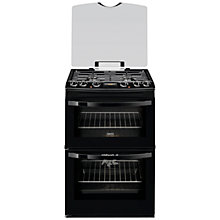 Buy Zanussi ZCK68300B Dual Fuel Cooker, Black Online at johnlewis.com