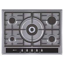 Buy Neff T26S56N0 Gas Hob, Stainless Steel Online at johnlewis.com