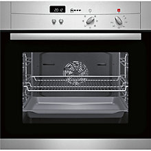 Buy Neff B12S52N3GB Single Oven, Stainless Steel/Black Glass Online at johnlewis.com