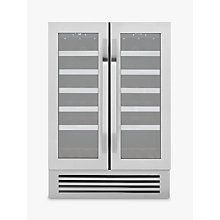 Buy John Lewis JLWF608 38 Bottle Under Counter Wine Cooler, Stainless Steel Online at johnlewis.com