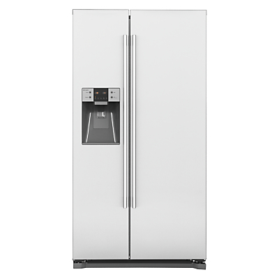 John Lewis JLAFFSS2015 NonPlumbed American Style Fridge Freezer A Energy Rating 91cm Wide Stainless Steel