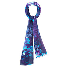 Buy Viyella Burnout Hibiscus Print Scarf, Purple Online at johnlewis.com