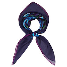 Buy Viyella Tropic Print Silk Scarf, Blue Online at johnlewis.com