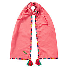 Buy East Maila Bead Scarf, Raspberry Online at johnlewis.com