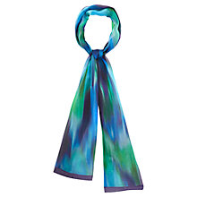 Buy Viyella Graphic Print Silk Scarf, Green Online at johnlewis.com