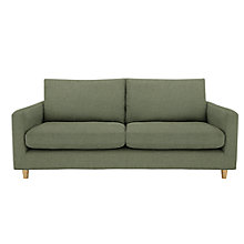 Buy John Lewis Bailey Fixed Cover Large Sofa, Quinn Blue Grey Online at johnlewis.com