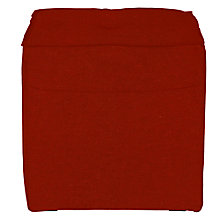 Buy John Lewis Rubix Cube Footstool, Quinn Crimson Red Online at johnlewis.com