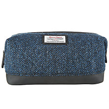 Buy John Lewis Harris Tweed Wool Washbag, Blue Online at johnlewis.com