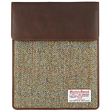 Buy John Lewis Harris Tweed iPad Cover, Brown Online at johnlewis.com