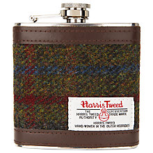 Buy John Lewis Harris Tweed Hip Flask, Green Online at johnlewis.com
