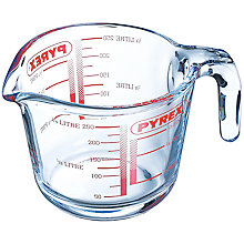 Buy Pyrex 0.25L Glass Measuring Jug Online at johnlewis.com