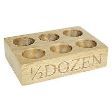 Buy John Lewis Croft Collection Wooden Egg Holder Online at johnlewis.com