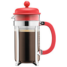 Buy Bodum Caffettiera Coffee Maker, 3 Cup, 0.35L, Red Online at johnlewis.com