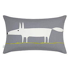 Buy Scion Mr Fox Cushion, Steel / Lime Online at johnlewis.com