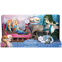 Buy Disney Frozen Anna & Elsa's Royal Sleigh Online at johnlewis.com