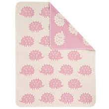 Buy John Lewis Baby's Hedgehog Blanket, Pink Online at johnlewis.com