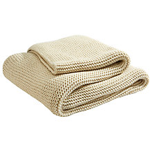 Buy Christy Oslow Throw, Cream Online at johnlewis.com