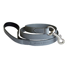 Buy Mutts & Hounds Slim Leather Dog Lead, Grey Online at johnlewis.com