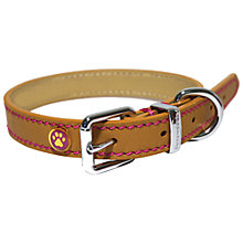 Buy Rosewood Tan Leather Dog Collar Online at johnlewis.com
