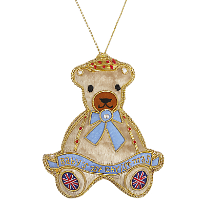 Image of Tinker Tailor Tourism First Christmas Teddy Hanging Decoration