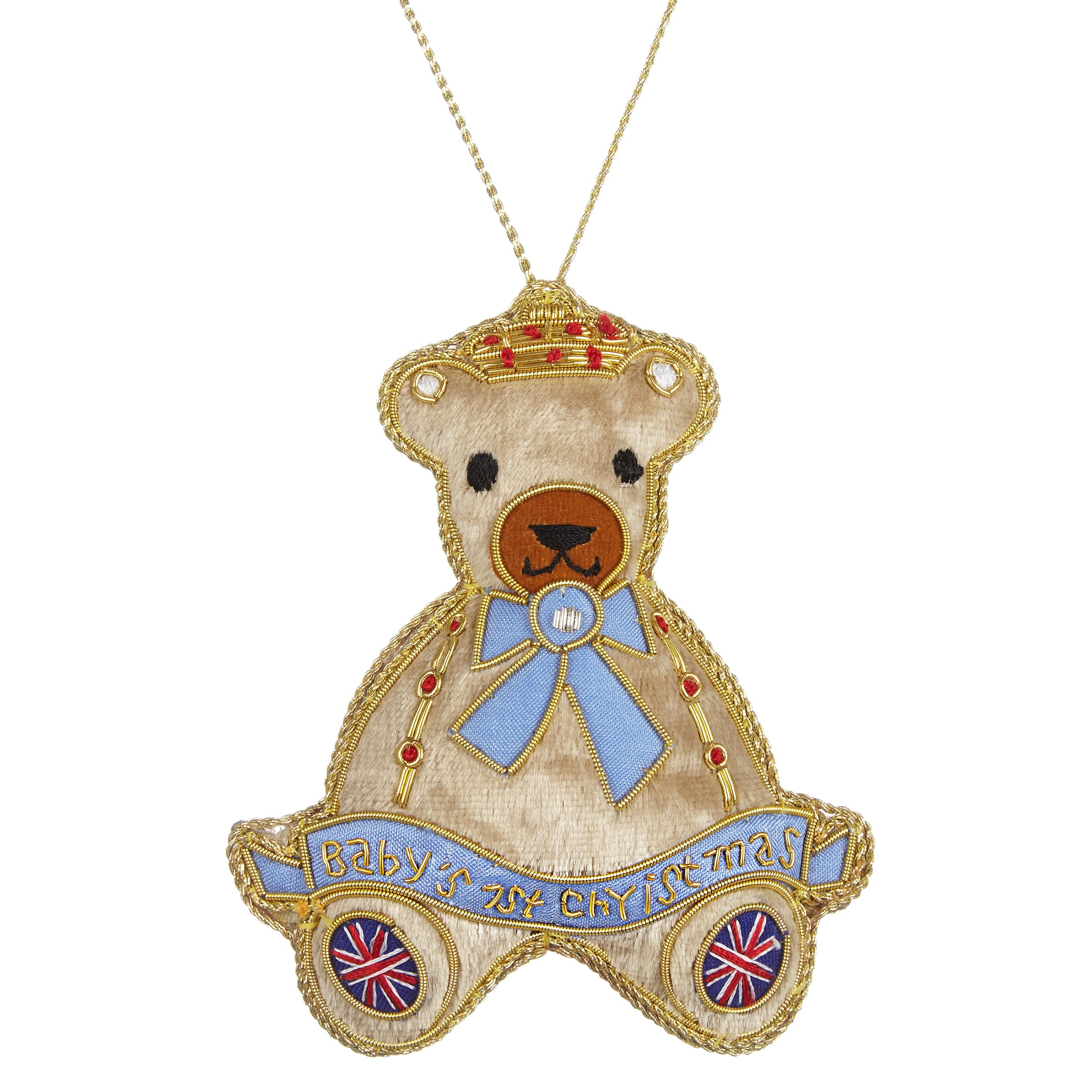 Tinker Tailor Tinker Tailor Tourism First Christmas Teddy Hanging Decoration
