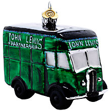 Buy Bombki Glass Little John Lewis Van, Green Online at johnlewis.com
