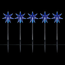 Buy John Lewis 5 Acrylic Star Stakes, Cool White Online at johnlewis.com