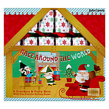 Buy John Lewis Race Around The World Christmas Crackers, Pack of 6 Online at johnlewis.com