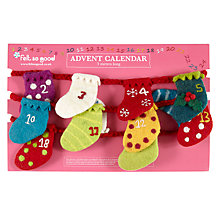 Buy Felt So Good, Stocking Advent Garland Online at johnlewis.com