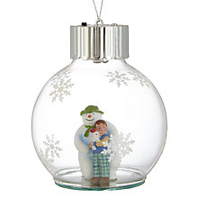 Buy John Lewis Snowman And Snowdog Bauble Online at johnlewis.com