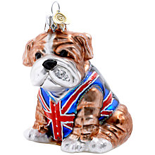 Buy Bombki Glass Little British Bulldog Bauble, Multi Online at johnlewis.com