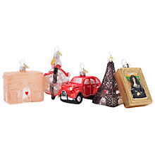 Buy Bombki Glass Little Paris Bauble Set, Pack of 5 Online at johnlewis.com