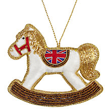 Buy Tinker Tailor Fabric Union Jack Rocking Horse Hanging Decoration, Multi Online at johnlewis.com