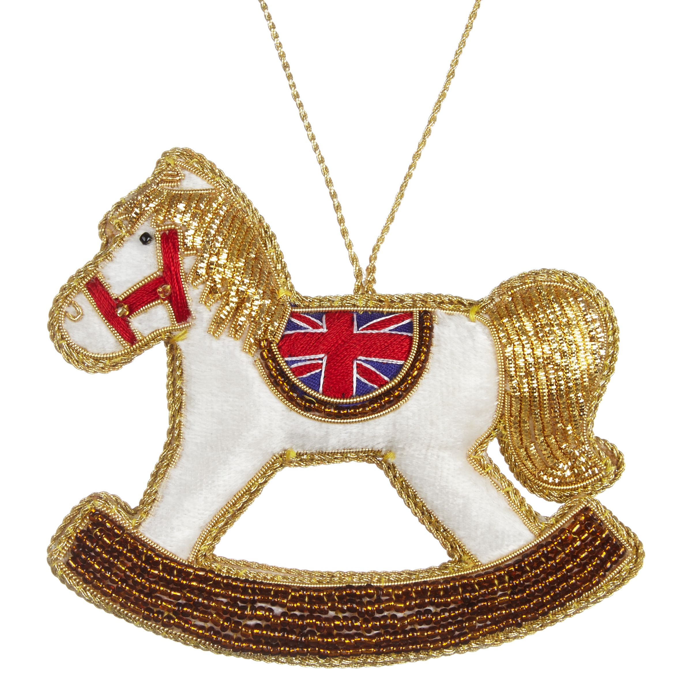 Tinker Tailor Tinker Tailor Tourisim Union Jack Rocking Horse Hanging Decoration
