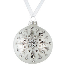 Buy John Lewis Snowdrift Glass Shine Snowflake Bauble, White Online at johnlewis.com