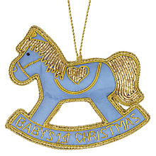 "Buy Tinker Tailor ""Baby's First Christmas"" Rocking Horse Decoration Online at johnlewis.com"
