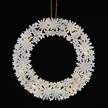Buy John Lewis Snowflake Wreath, White Online at johnlewis.com